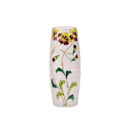 France flower painting motivesglass vase