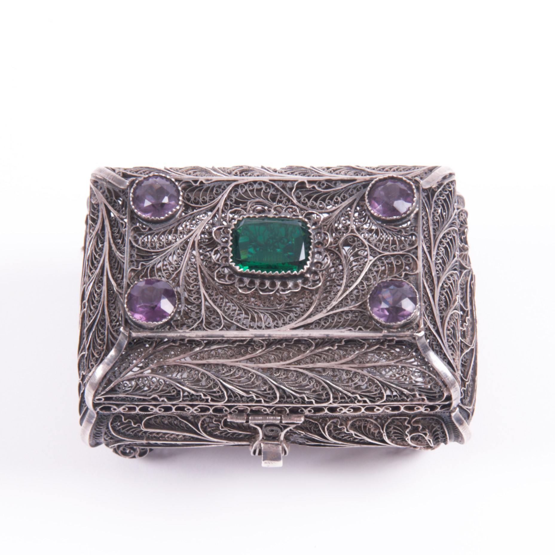Russian Silver Filigree Box