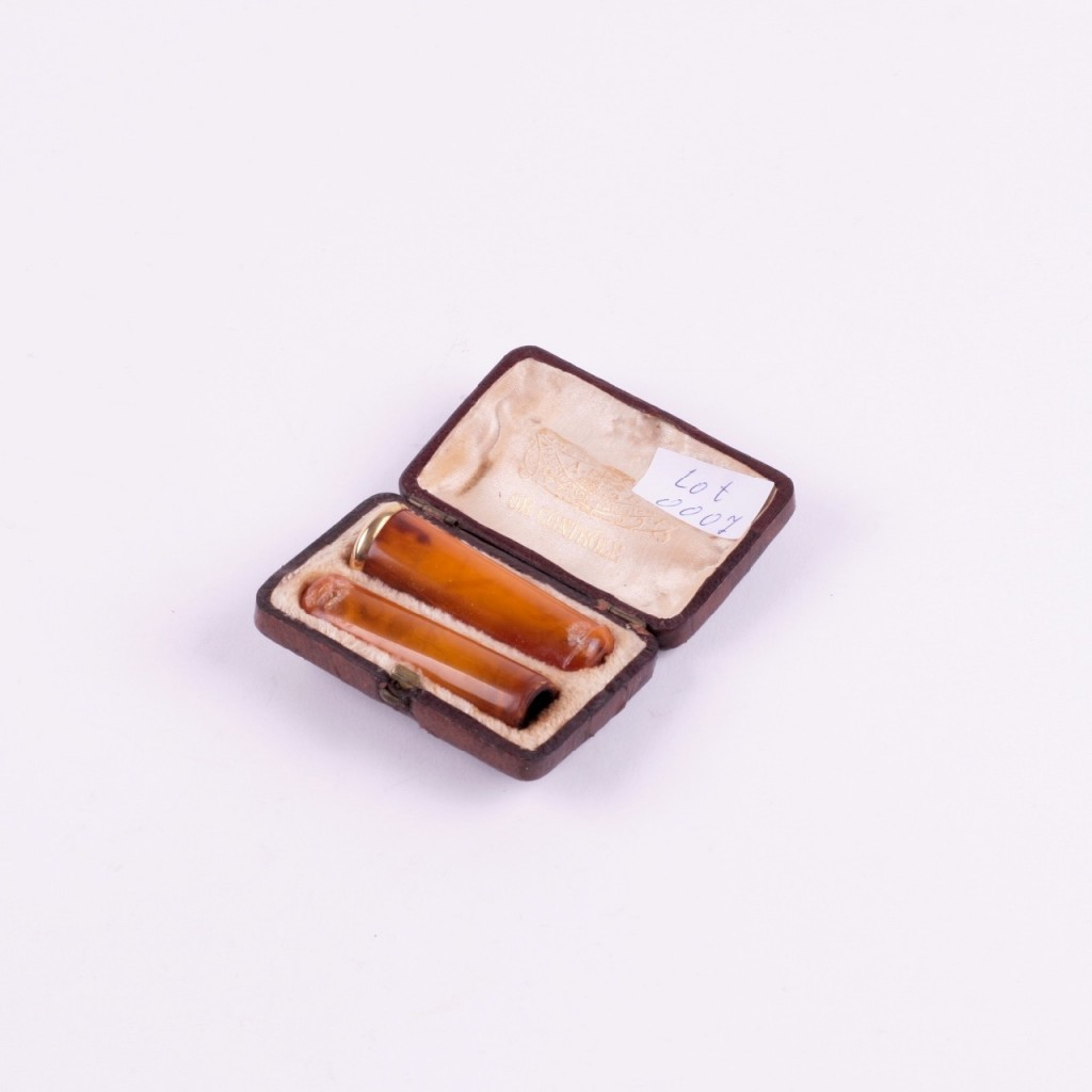 Pair of Amber Mouthpieces