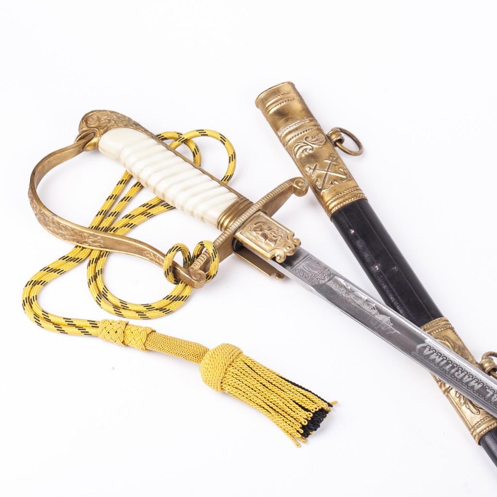 M-1910 Argentine Navy Sword Signed Fontanarrosa