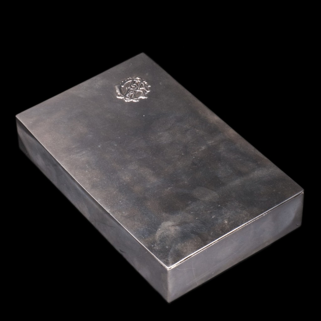 Antique Silver Cigar Box
