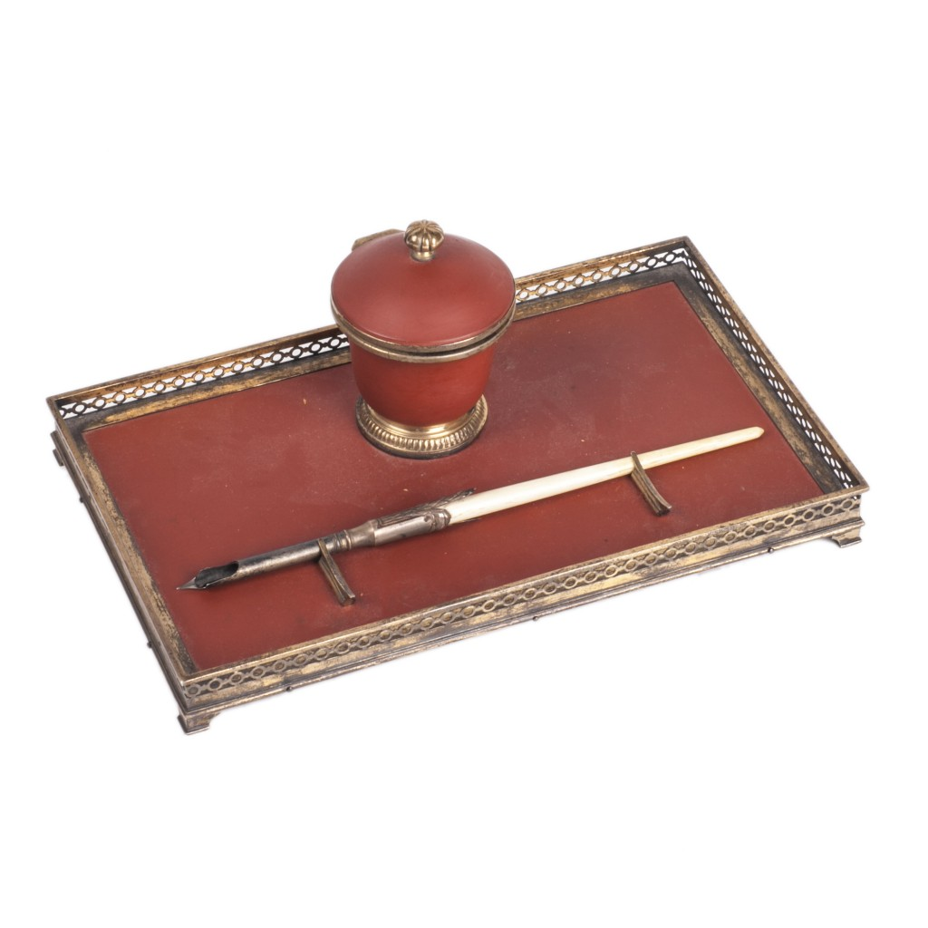 Antique French Desk Inkwell