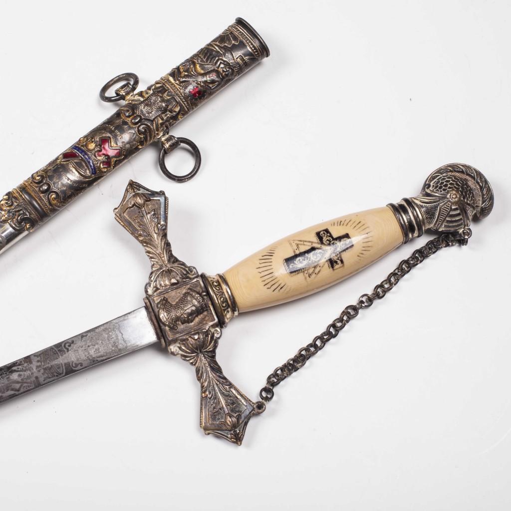 Antique Masonic Knights Templar Ceremonial Sword on