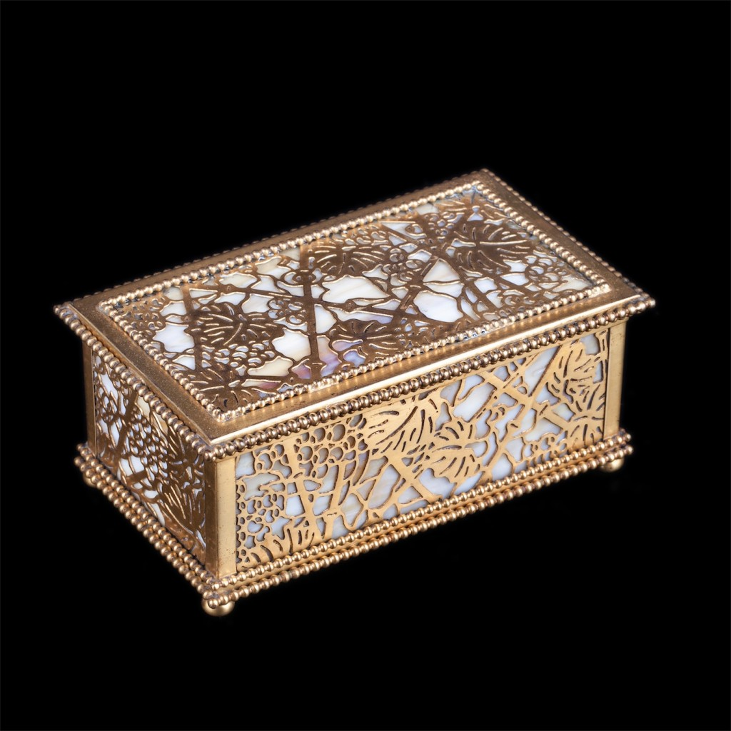 "Antique decorative jewelry box ""Tiffany's"" Studio in New York"