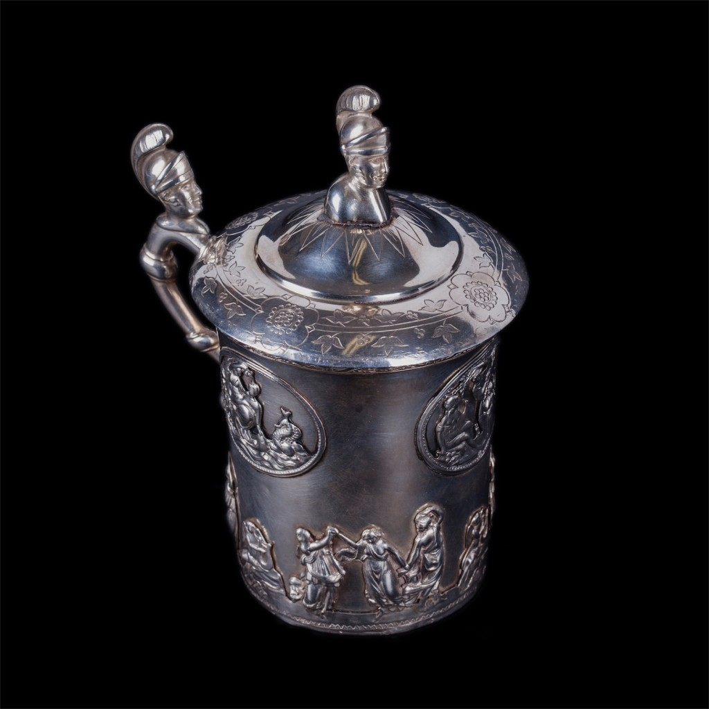 Russian silver-gilt cup with lid. Peter Muller