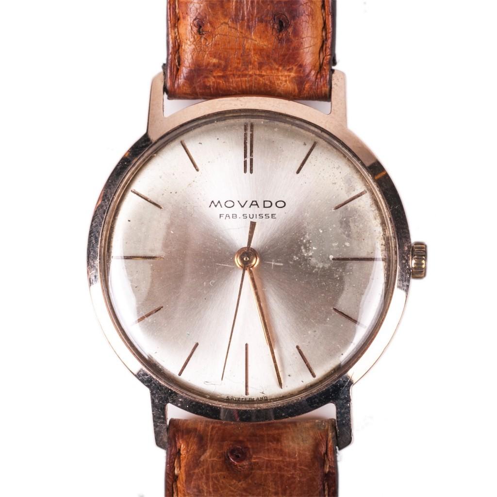Movado 18K gold wristwatch
