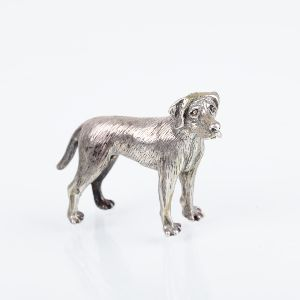 Silver figure of a dog