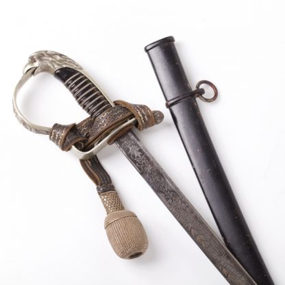 7th Baden Infantry Regiment Officer's Damascus Sword