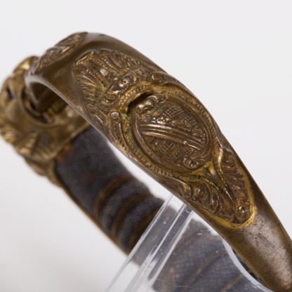 Fine Quality Imperial German Blue, Gilt and Damascus Presentation Sword