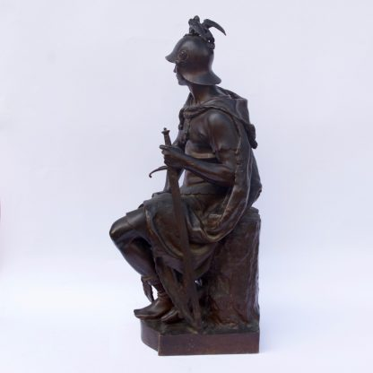 """""""Le Courage Militaire"""" Bronze Sculpture by Paul Dubois"""