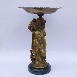 Beautiful Caryatid Bronze Vase