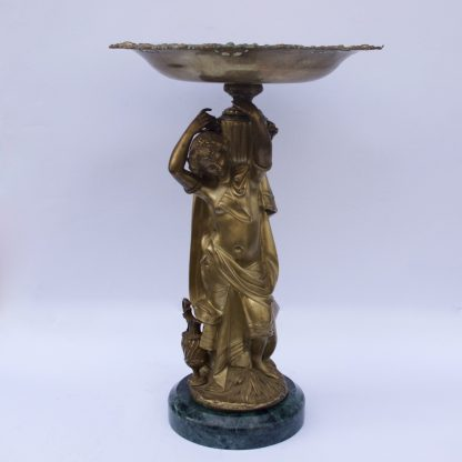 Beautiful Caryatid Bronze Vase