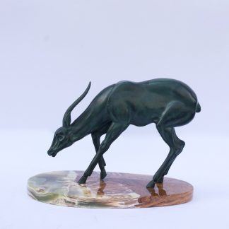 Animalistic Bronze Sculpture of an Antelope