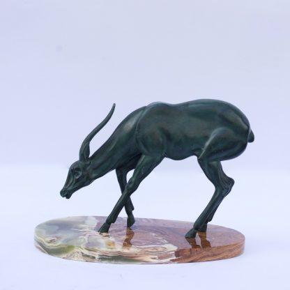 Animalistic Bronze Sculpture of an Antelope