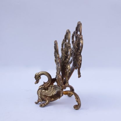 Interesting Bronze Peacock Napkin Holder