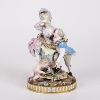 Antique Porcelain Meissen Figure with Putty on TheBestAntique.com
