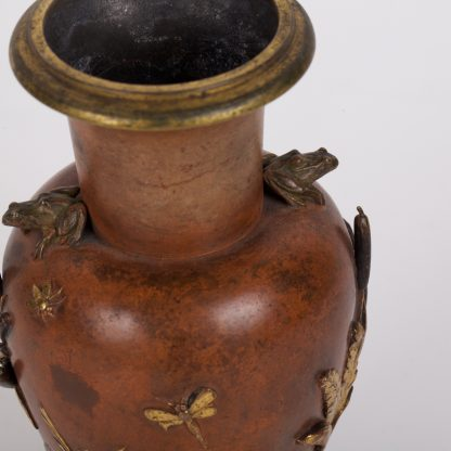 Antique French Bronze Vase With Japanese Motives on TheBestAntique
