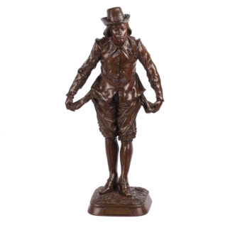 "French bronze sculpture ""Pas de Chance"""